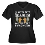 You Just Get Stronger Women's Plus Size V-Neck Dar
