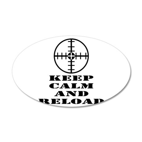 Keep Calm And Reload 20x12 Oval Wall Decal