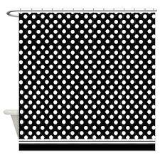 Black and white polka dot Shower Curtain