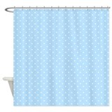 Small polka dot light blue Shower Curtain