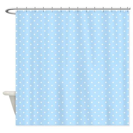 blue bathroom d cor small polka dot light blue shower curtain