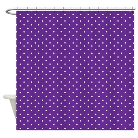 Polished Nickel Shower Curtain Rod Purple Polka Dot Wooden Letters