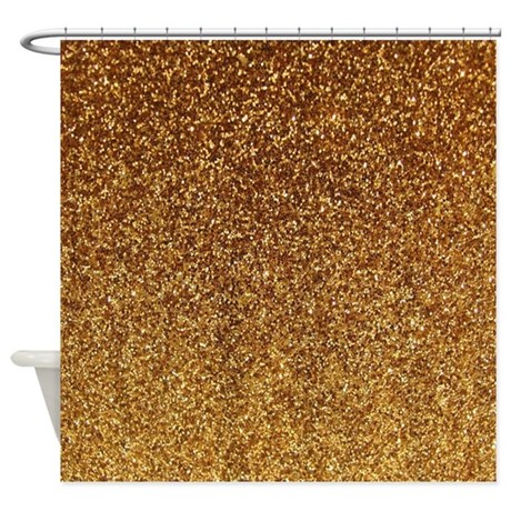 Faux Gold Glitter Texture Shower Curtain Matte By Inspirationzstore