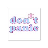 Dont Panic Hitchhikers Guide Rectangle Sticker