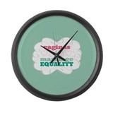 Vaginas for Equality Large Wall Clock