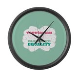 Vegetarian for Equality Large Wall Clock