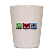 Peace Love Chocolates Shot Glass