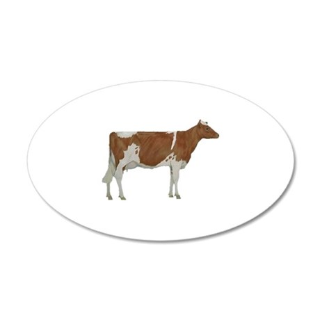 Guernsey Milk Cow 35x21 Oval Wall Decal