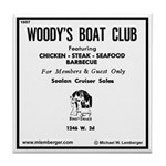 Woody's Boat Club Tile Coaster