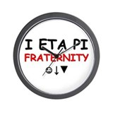 """I ETA PI Fraternity"" Wall Clock"