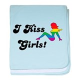 I Kiss Girls baby blanket