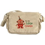 Little Cousin - Retro Robot Messenger Bag