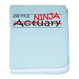 Job Ninja Actuary baby blanket