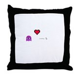 lovely pacman Throw Pillow