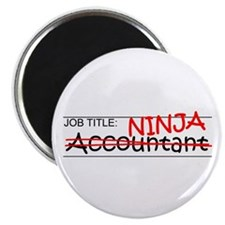 "Job Ninja Accountant 2.25"" Magnet (10 pack)"