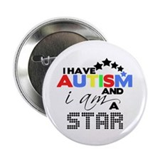 "Autistic Star 2.25"" Button (10 pack)"
