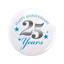 "Happy Anniversary 25 years 3.5"" Button (100 p"
