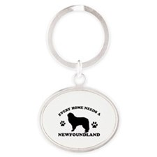 Every home needs a Newfoundland Oval Keychain