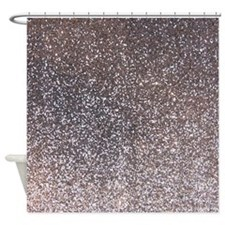 faux silver glitter texture shower curtain matte for