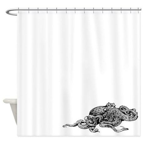 Squid Shower Curtains | Squid Fabric Shower Curtains - CafePress