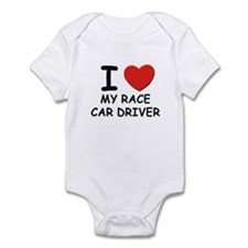 I love race car drivers Infant Bodysuit
