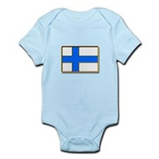 Flag of Finland Badge Body Suit