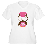 2015 Owl Graduate Class Women's Plus Size V-Neck T