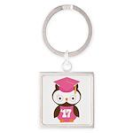2017 Owl Graduate Class Square Keychain