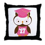 2017 Owl Graduate Class Throw Pillow