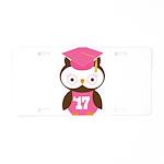 2017 Owl Graduate Class Aluminum License Plate