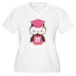 2017 Owl Graduate Class Women's Plus Size V-Neck T