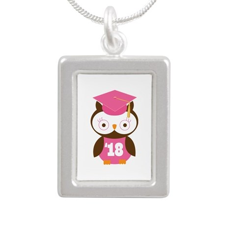 2018 Owl Graduate Class Silver Portrait Necklace