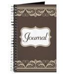 Lace Ornate Brown Journal Journal
