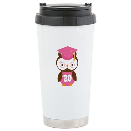 2020 Owl Graduate Class Stainless Steel Travel Mug