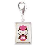 2020 Owl Graduate Class Silver Portrait Charm