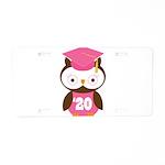 2020 Owl Graduate Class Aluminum License Plate