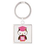 2021 Owl Graduate Class Square Keychain