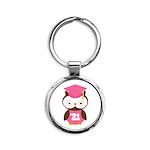 2021 Owl Graduate Class Round Keychain