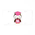 2021 Owl Graduate Class Aluminum License Plate