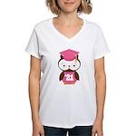 2021 Owl Graduate Class Women's V-Neck T-Shirt