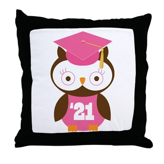 2021 Owl Graduate Class Throw Pillow