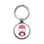 2022 Owl Graduate Class Round Keychain