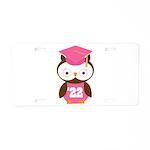 2022 Owl Graduate Class Aluminum License Plate