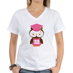 2022 Owl Graduate Class Women's V-Neck T-Shirt