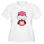 2022 Owl Graduate Class Women's Plus Size V-Neck T