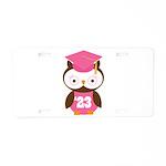 2023 Owl Graduate Class Aluminum License Plate