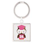 2024 Owl Graduate Class Square Keychain
