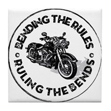 Bending the Rules Tile Coaster