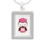 2025 Owl Graduate Class Silver Portrait Necklace
