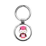 2025 Owl Graduate Class Round Keychain